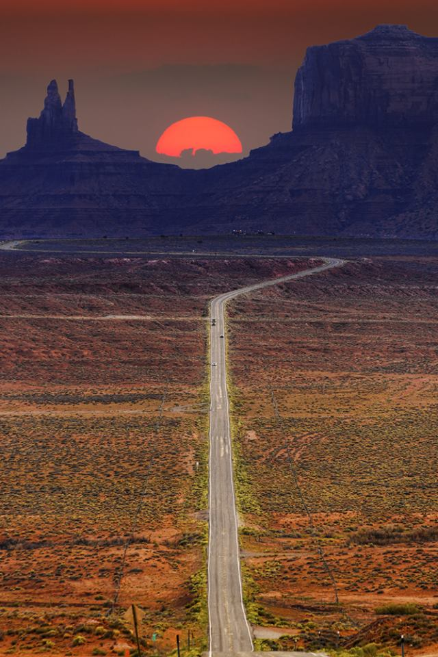 US Route 163 Monument Valley Utah USA