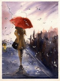 walking in the rain